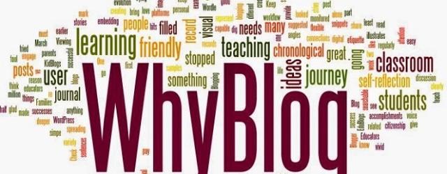 Why I blog?