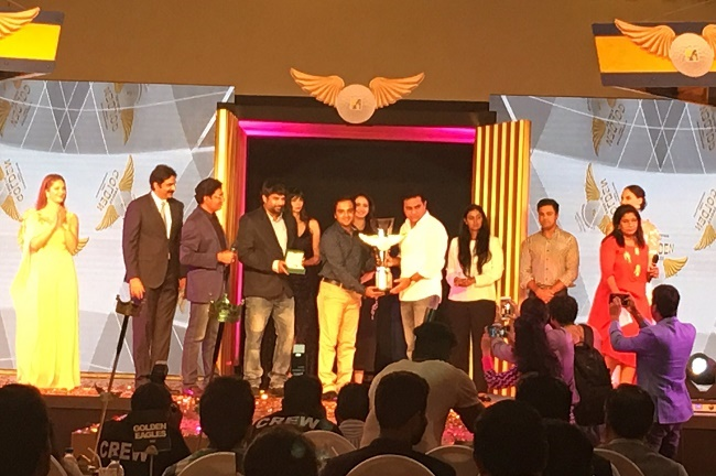 Mr. C Sasidhar, R. Madhavan and Mr. K. T. Rama Rao during grand prize distribution ceremony