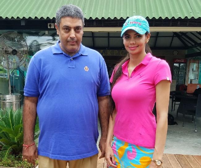 Twelve times women's golf champion Sharmila Nicollet