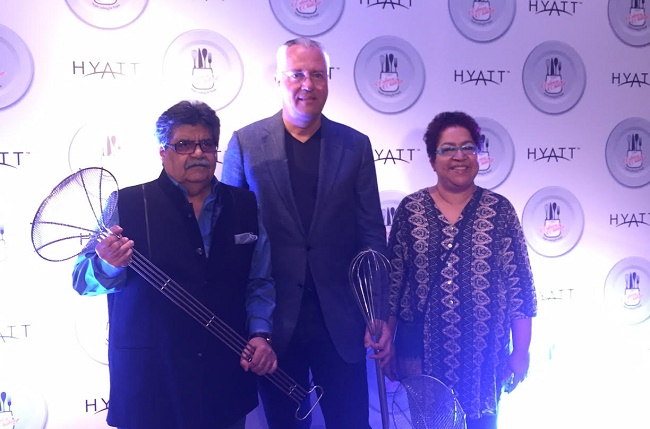 Rocky Mohan - Director Mohan Meakins, Kurt Straub - VP Operations, Hyatt Hotels & Resorts India, and Marryam H. Reshii - Food Critic & Writer at Hyatt Culinary Challenge Grand Finale 2016