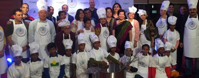 13 CEO Finalists from across India with Kids from Smile Foundation Kick-start the Hyatt Culinary Challenge Grand Finale 2016