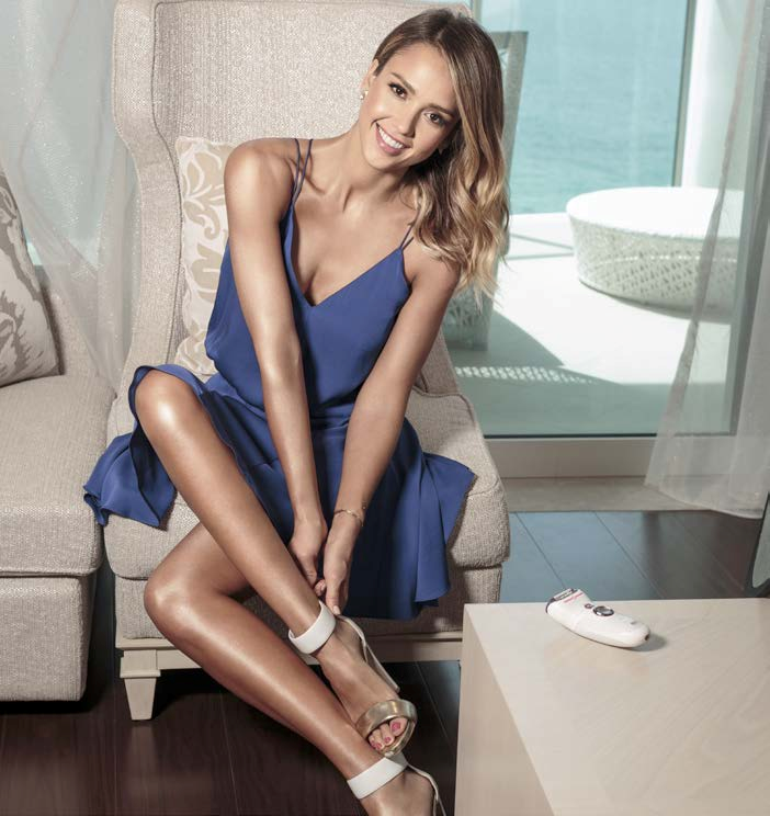 Jessica Alba's chosen method of hair removal